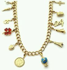 D&G COLLANA NECKLACE DOLCE & GABBANA oro smalti Charms dj0610