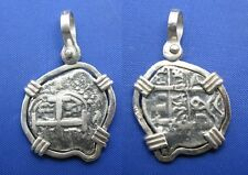 Odd Shaped Colonial Pirate Cob Coin Replica Nautical Treasure Blackbeard Pendant