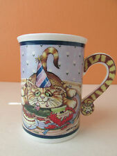 """Danbury Mint Gary Patterson Comical Cats Collector """"Party Time"""" Coffee Mug/Cup"""