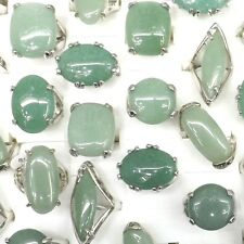 Big Gemstone Rings Natural Jade Rings 50pcs/lot Wholesale