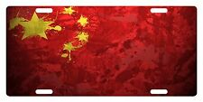 CHINA Flag Custom License Plate Chinese People Emblem  Paint  Version