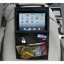 1* Auto Car Seat Back Multi-Pocket Organiser Storage Bag Hanging For iPad Tablet