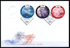 Olympische Sommerspiele, Sydney. FDC-3W. Schweiz 2000