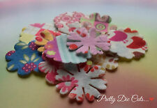 Felt Flowers, Multicoloured Patterns, Die Cut Craft Embellishments