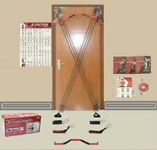 X-Factor Full Door Home Gym, Bonus Straight Bar, DVD, Guide, Chart NEW IN BOX