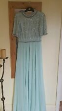 Brand new Asos occasion mint green embelished tall dress 12/14