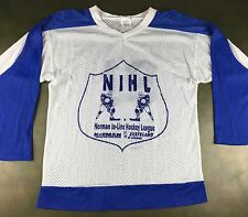 True Vintage 80s 90s NIHL Norman In-Line Skates Hockey League Graphic Jersey S