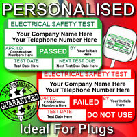 PAT Test PERSONALISED Labels / Stickers Pat Test Labels 520 PASSED & 65 FAILED
