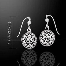 Celtic Shamrock .925 Sterling Silver Earrings by Peter Stone