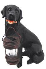 Cute Black Lab Statue with Solar Powered Light-SOLAR LIGHT/GARDEN DECO!!!