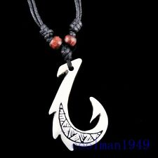 Hawaiian Fish Hook Pendant Necklace RH051