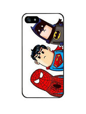 iPhone 5/5s funda carcasa dura rigida dibujos spiderman superman batman