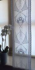 "Rennie Mackintosh 160"" 4m long sidelight panel Scottish cotton lace White"