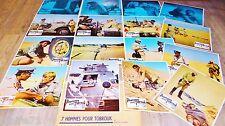 7 HOMMES POUR TOBROUK !  jeu 16 photos cinema lobby cards 1969 guerre 39-45