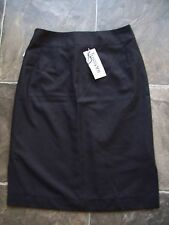 BNWT Ladies Tussoni Black & Grey Polyester Straight Skirt Size 8