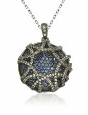 SUZY LEVIAN Gladiator Blue & White Pave Sapphire in 925 Sterling Silver Pendant
