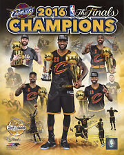CLEVELAND CAVS 2016 NBA CHAMPIONS TEAM COMPOSITE 8X10 GOLD LICENSED PHOTO #/5000