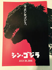 New SHIN GODZILLA Resurgence 2016 Japan flyer mini-poster Kaiju TOHO fantastic!