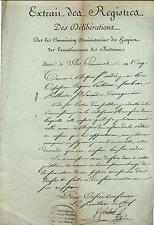 Extrait des registres deliberations hospices de arrondissement Bordeaux 1797