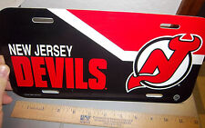 New Jersey Devils  NHL hockey team License Plate, made in the USA