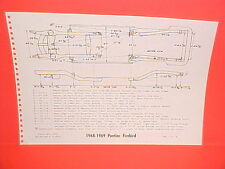 1968 1969 PONTIAC FIREBIRD RAM AIR TRANS AM CONVERTIBLE FRAME DIMENSION CHART