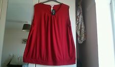 Women's size 30 red top, (label reads ruby red) simply be, bnwt
