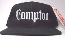 Vtg 90's NWA Compton Oakland Los Angeles Raiders Hip Hop Rap Snapback Hat Cap