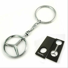 Genuine Mercedes Key Ring Chrome Star Logo Brussels Key Chain