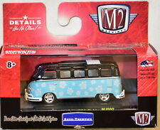M2 MACHINES AUTO-THENTICS 1959 VW MICROBUS DELUXE USA MODEL MJS02 BLUE