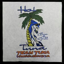 Team Hot Tuna Bar Grill Palm Virginia Beach Screen Print Transfer Wall Craft