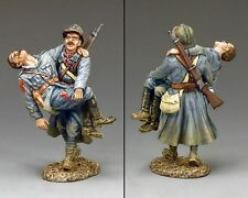 """KING AND COUNTRY WW1 """"LES DEUX HEROS""""POILU AND OFFICER FW185 military metal"""