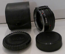 Film Camera Lens Vivitar MC Tele Converter 2X-5 & Caps & Case Made in Japan