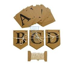 Create Your Own Bunting Kit 75pc Celebration Messages Names Natural Brown Colour
