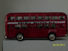 "METAL MADE IN CHINA DOUBLE DECKER BUS. FRICTION MOTOR 11""L x 4 3/4""H. NO BOX"