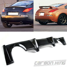 New Carbon For Nissan Z33 350Z Convertible Coupe Rear Bumper Diffuser 03-08
