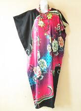 KD75 Pink Floral Women Kaftan Caftan Batwing Summer Dolman Maxi Dress L to 2X