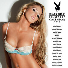 "Playboy Lingerie 2017 Calendar by Turner/Lang (12"" x 24"" when opened)"