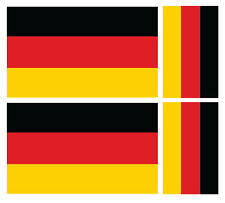 4 X GERMAN GERMANY FLAG VINYL CAR VAN IPAD LAPTOP STICKER