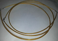 45 CM SCHOFER BRAND 12 STRAND FINE GOLD TONE WIRE CHOKER NECKLACE WELDED STEEL