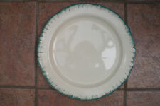 Art Deco Charger Plate with Feathered Border by Grindley CREAMPETAL Pottery.