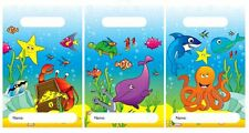 20pc PARTY BAGS SEALIFE Loot Empty Coloured Patterned Gift goody bag kids
