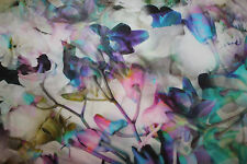 Cotton-Satin-Digitaldruck-Print Ice-Flowers  0,50 x 1,40