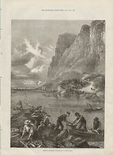 1875 AMERICAN SKETCHES SHAD FISHING ON THE HUDSON