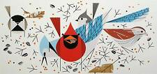 Charlie/Charley Harper - BIRDFEEDERS - Cert of Auth - Fun bird art