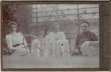 CDV photo Feine Damen am Kaffeetisch - Österreich 1900er