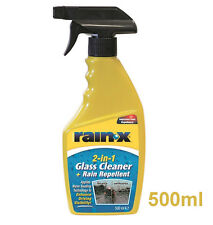 Rainx Rain x 500ml  Bottle  - Repells Water Off Windscreen / Glass + Cleans New