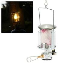 HANGING GLOBE MANTLE INTEGRATED MINI GAS LAMP GLASS LANTERN TENT LIGHT WALL C9S8