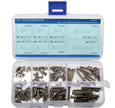 #4-40 UNC Button Head Socket Cap Screws 120-piece Assortment Set Stainless Steel