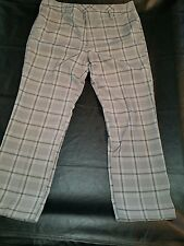 UNDER ARMOUR GOLF PANTS STRETCH PLAID MENS 38 WAIST all season