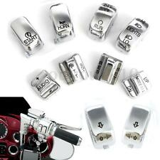 10x Chrome Hand Contorl Switch Housing Button Cover Cap For Harley Electra Glide